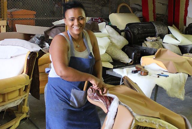 Woman Entrepreneur Takes Up Upholstery The Namibian